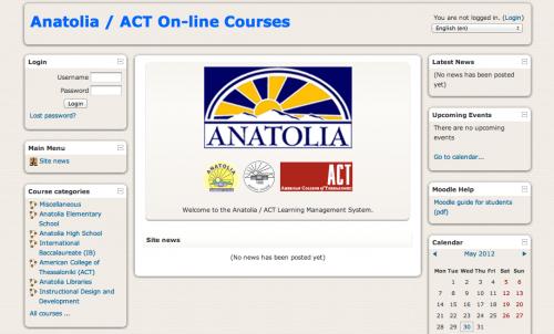 Moodle - Anatolia College / ACT