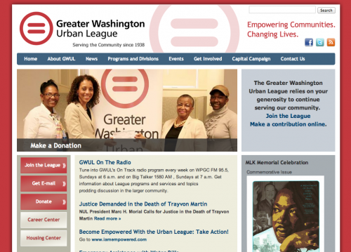 CiviCRM - Greater Washington Urban League